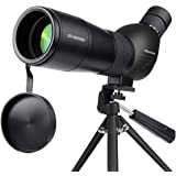 Spotting ScopeHuicocy 20-60x60mm Zoom 39-19m/1000m Fully Multi Coated Optical Lens Fogproof and Movably Eyepiece Rubber Desig
