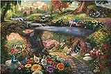 西洋絵画 ディズニー アリス イン ワンダーランド 42x30cm トーマスキンケード Alice in Wonderland 不思議の国のアリス [並行輸入品]