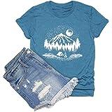 HDLTE Sunrise Sunset Organic T Shirt Women Nature Travel Short Sleeve Tee Tops