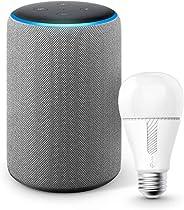 Echo (エコー) 第3世代 - スマートスピーカー with Alexa、ヘザーグレー +TP-Link Kasa スマート LED ランプ 調光タイプ E26 KL110
