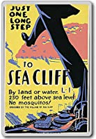 Poster Promoting Sea Cliff, Long Island For Tourism, USA - Vintage Travel Fridge Magnet - 蜀キ阡オ蠎ォ逕ィ繝槭げ繝阪ャ繝