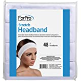 "ForPro Stretch Headbands - Moisture Absorbent Disposable Spa Headbands - 2.25"" W x 18"" C - 48-Count"