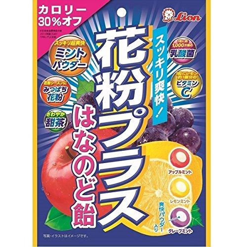 ライオン菓子 花粉プラスはなのど飴袋 1箱(6袋)