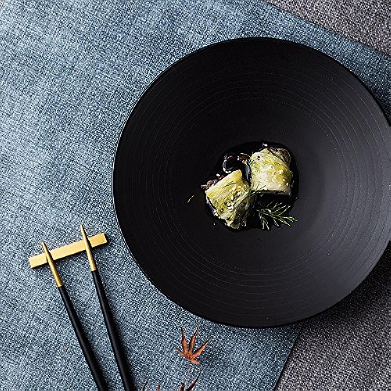 housewaresstore- ヨーロッパのセラミック糸西洋料理のエンボスステーキプレートクリエイティブフラットプレートフルーツサラダプレートデザートプレート8インチのプレート plate