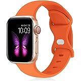 SinceC コンパチブル Apple Watch バンド アップルウォッチ バンド 38mm 40mm 42mm 44mm for iWatch Series 6/5/4/3/2/1/SE に対応 スポーツバンド 交換ベルト シリコン製 柔らかい