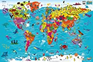 Collins Children's World Wall Map: An Illustrated Poster for Your Wall