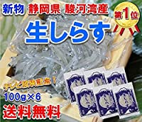静岡県 駿河湾産 鮮度最高 生 しらす 100g×6袋 (冷凍)( シラス )