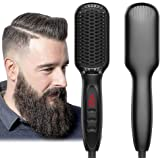 Beard Straightener for Men Ionic Beard Straightener Comb 2019 New Design Electrical Heated Hair Straightening Brush with Fast
