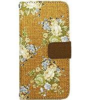 [ZI:L](ジール) iPhone8 [i6] ケース 手帳型 スマホケース nbfl019d 花柄 カントリー調 ニット風プリント レッド ミラータイプ スマホカバー 携帯カバー