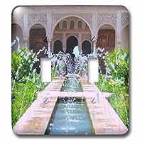 3drose LLC 3drose LLC lsp _ 112956_水飲み器2atアルハンブラの庭園グレナダスペイン–IslamicトルコMuslim透かし彫りArches–ダブル切り替えスイッチ