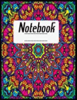 "Notebook: Notebook College Ruled 8.5"" x 11"" Composition Book, Fall Leaves with Owls and Pumpkins Cover"