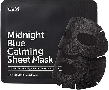 クレアスミッドナイトブルーカーミングクリーム25mlX10枚セット (Klairs Midnight Blue Calming Sheet Mask 25mlX10ea) [並行輸入品]