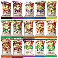 【 アマノフーズ フリーズドライ 】 いつもの おみそ汁 15種類 30食 アソートセット[ フリーズ ドライ ねぎ 5g 付き ]