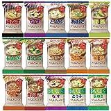 【 アマノフーズ】 いつもの おみそ汁 15種類 30食 アソートセット[ フリーズ ドライ ねぎ 5g 付き ]