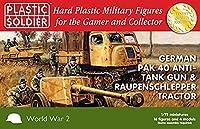 プラスチックソルジャー 1/72 PaK 40&ラウペンシュレッパートラクター セット フィギュア16体付き プラモデル PSCWW2G20005