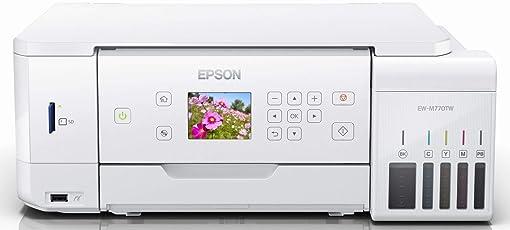 エプソン プリンター A4 インクジェット 複合機 エコタンク搭載 EW-M770TW1 ホワイト (無償保証期間3年/ドキュメントパック非同梱)