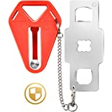 Portable Door Lock, Travel Lock, School Lockdown Lock, Extra Security Measure for Airbnb, Hotel, Home, Apartment and Prevents