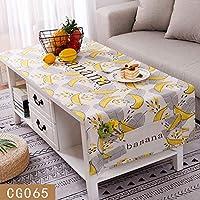 防水 カバー タオル,四角形 テーブル クロス,防塵 ポケット テーブル の キッチン ダイニング 卓上装飾-C 65x180cm(26x71inch)