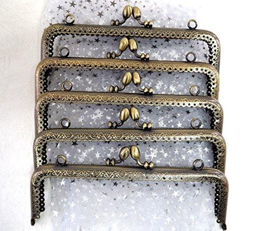 アンティーク風 がま口 角型 くし型 口金 セット どんぐり 選べる 材料 手芸材料 ハンドメイド (角型どんぐり波タイプ 18cm10個)