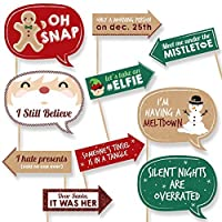 Funny Christmas - Holiday & Christmas Party Photo Booth Props - 10 Piece [並行輸入品]