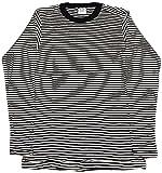 (グリーンヒルズ) GREEN HILLSサーマルボーダー長袖Tシャツ (Mサイズ, ホワイトXブラック)