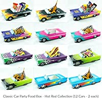 12 Classic Car Party Food Boxes - Hot Rod Collection (2 ea.) by NostalgiaVille USA - Classic Car Sets