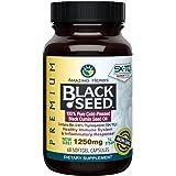 Amazing Herbs Premium Organic Black Seed Oil – Cold-Pressed Nigella Sativa and Thymoquinone, 60 capsules