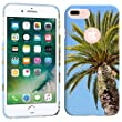 iPhone 7 Plus Case / iPhone 8 Plus Case - Artsy Palm Tree Hard Plastic Back Cover. Slim Profile Cute Printed Designer Snap on Case by Glisten [並行輸入品]