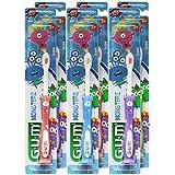 GUM Monsterzモンスターズキッズ/幼児歯ブラシ、子供2+、ソフト、(6パック)