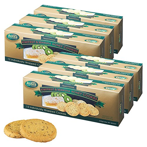 ニュージーランドお土産 アオテア Aotea キウイ&マヌカハニークッキー 6箱セット