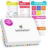 DNA Test Kit tellmeGen | 390+ Reports + Health Predisposition + Ethnicity (Ancestry Composition) + Genetic Carrier Status + P