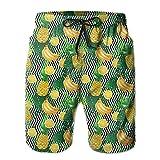 黄色 果物 バナナ レモン メンズ サーフパンツ 水陸両用 水着 海パン ビーチパンツ 短パン ショーツ ショートパンツ 大きいサイズ ハワイ風 アロハ 大人気 おしゃれ 通気 速乾