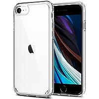 【Spigen】 iPhone SE ケース [第2世代] / iPhone8 / iPhone7 対応 全面クリア 米軍MIL規格取得 耐衝撃 すり傷防止 ワイヤレス充電対応 アイフォンSE (2020年モデル) アイフォン8 アイフォン7 カバー シュピゲン ウルトラ・ハイブリッド 042CS20927 (クリスタル・クリア)