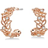 Mestige Rose Gold Filigree Earrings with Swarovski® Crystals (Rose Gold) Gifts Women Girls, Filigree Drop Stud Dangle-Earring