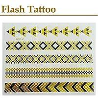 """シャイニングタトゥー フラッシュタトゥー FLASH TATTOO SHINING TATTOO """"GOLD Flash Tattoo""""  (商品No G012)"""