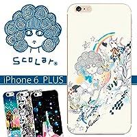 スカラー/50104/スマホケース/スマホカバー/iPhone6Plus/アイフォン/スカラコ ネコ メルヘン アイボリー かわいい ファッションブランド
