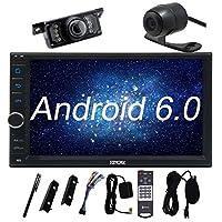 フロントとバックアップカメラ+ Eincarアンドロイド6.0カーステレオ、外部マイク、7インチ2 Din In Dash Bluetoothラジオ、サポートフロント/バックアップカムイン、3G / 4G、WIFI、USB / SD、OBD2、ミラーリンク、1080P