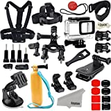 Kupton Accessories for GoPro Hero 6 / 5 Action Camcorder Camera Accessories Mounts Waterproof Case Chest Head Strap Bike Car Backpack Clip Mount for Go Pro Hero6 Hero5