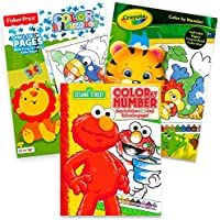 2パック色by Numbers Coloring Books Color By Number Books for Kids