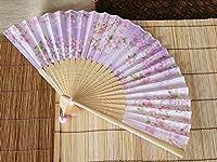 女性用扇子 「桜」 薄紫 紙箱入り