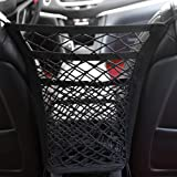 3-Layer Universal Car Seat Net Organizer,Car Purse Storage & Pocket (for Smaller Items) Kid Pet Barrier
