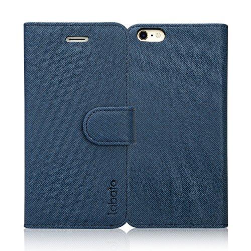 Labato iphone6s ケース iphone6 ケース 手帳型 アイフォン6s アイフォン6 ケース 軽量 手帳 人気 PUレザー カード収納 スタンド マグネット式 スマホケース (ディープブルー lbt-I6S-08D44)