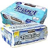 カークランド トイレットペーパー + キッチンペーパータオル セット (トイレットペーパー + キッチンペーパータオル セット)