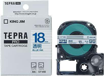 KING JIM PROテープカートリッジ 透明ラベル ST18B