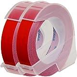 ダイモ テープ 幅9mm 長さ3m つやあり 赤 2巻 DM0903RD2