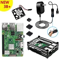 Raspberry Pi 3 Model B+ セットラズベリーパイ3 b+ 本体基板5V 2.5A 電源アダプター ケース ヒートシンク (本体)