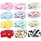 12pcs Spa Headbands, Coral Fleece Makeup Headband Cosmetic Headband, Lovely Face Washing Headband Shower Headbands Headwraps,