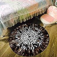 YETUGE-X ラグカーペット 絨毯カーペット 円形 おしゃれ 洗える 滑り止め オールシーズン シンプル 家具