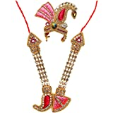 Aditri Creation Mala Mukut Set Pink (Size-4)