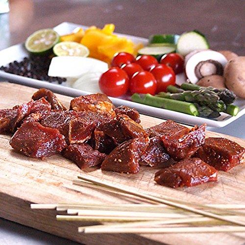 竹串付き味付けビーフキューブ 150g (牛串、牛ステーキ丼用、ビーフケバブ)【無添加】 【販売元:The Meat Guy(ザ・ミートガイ)】